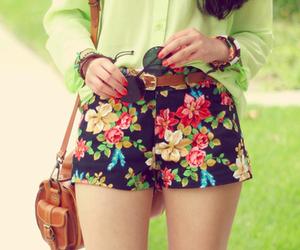 fashion, flowers, and shorts image