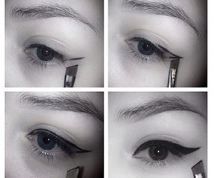 cat eyes, eyes, and tutorial image