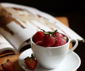 strawberry, cup, and fruit image