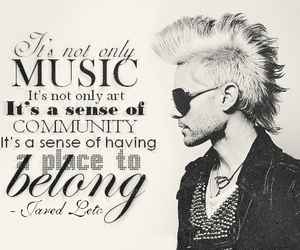 jared leto, 30 seconds to mars, and quote image
