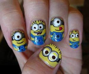 nails, minions, and cute image