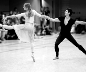 ballet, black and white, and couple image
