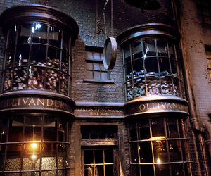 harry potter, ollivanders, and wand image