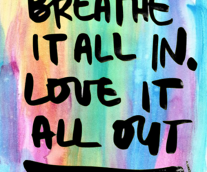 quote, love, and colours image