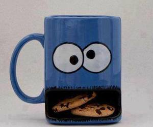 girl, cookie monster, and food image