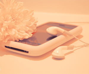 flower, iphone, and ipod image
