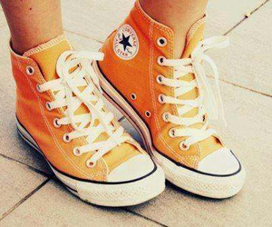 converse, orange, and all star image