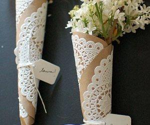 flowers, diy, and wedding image