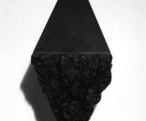 black, art, and pyramid image