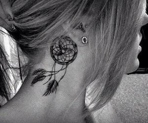 dreamcatcher, girl, and tattos image