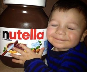 nutella, chocolate, and funny image