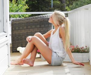 blonde, hair, and vintage image