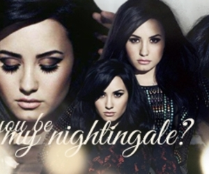 black hair, demi, and demi lovato image