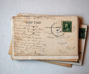 vintage, Post card, and letters image