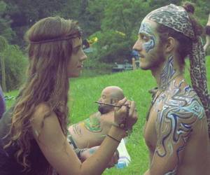hippie, couple, and nature image