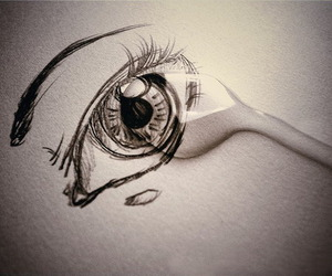 cry, eye, and drawing image