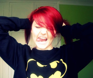 batman, red, and woman image