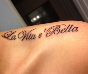 italia, shoulder tattoo, and tattoo image