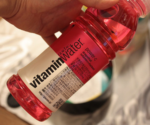 vitamin water, pink, and water image