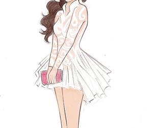 selena gomez, drawing, and dress image