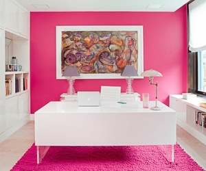desk and pink image