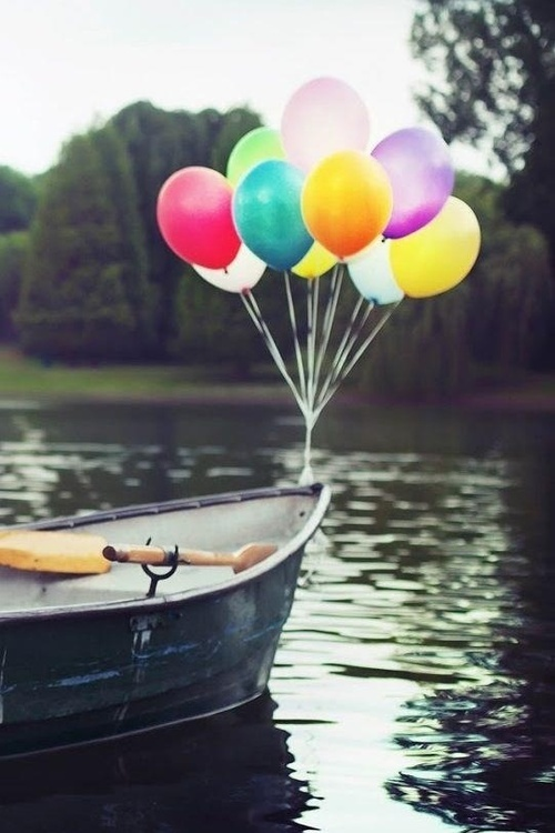 awesome, river, and baloons image