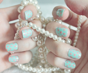 nails, pearls, and necklace image