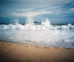 freedom, waves, and ocean image