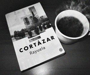 book, coffee, and cortazar image