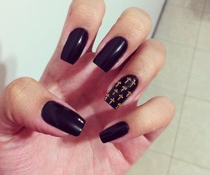 nails, black, and cross image