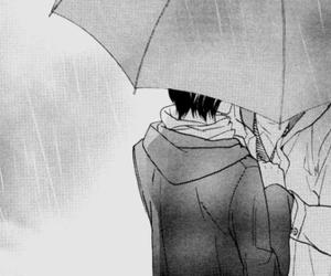 bl, manga, and rain image