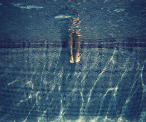 water, pool, and legs image