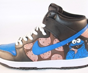 cookie monster, cool, and nike image