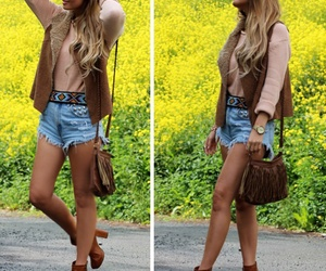 boots, fashion, and hair image
