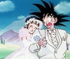 love, dragon ball, and goku image