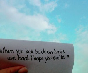 text, sky, and smile image