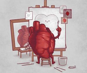 art, image, and heart image