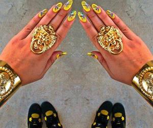 girls, nails, and shoes image