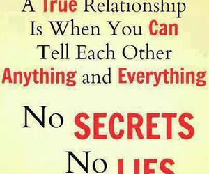 quote, Relationship, and secrets image