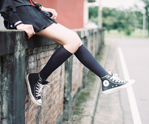 girl, converse, and japan image