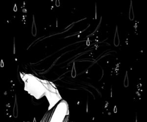 manga, anime, and rain image