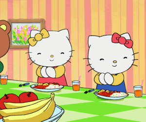 cat, cats, and hello kitty image
