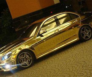gold and car image