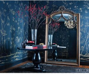 mirror, blue, and room image