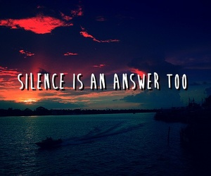silence, quote, and answer image