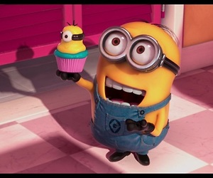 minions, cupcake, and despicable me image