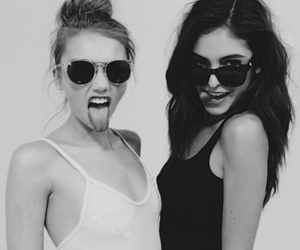 girl, friends, and sunglasses image