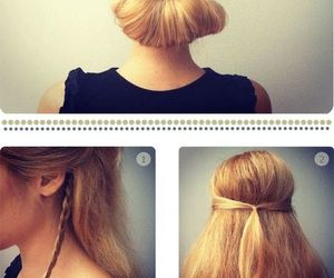 beautiful, hairstyle, and instruction image