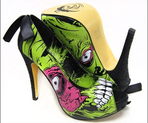 shoes and zombie image