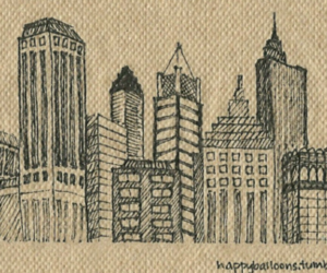 art, buildings, and busy image